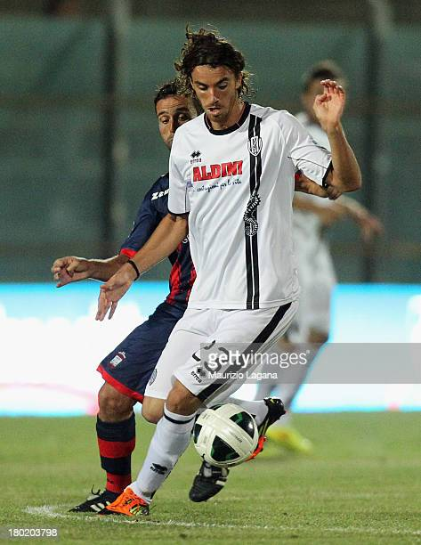 Andrea Tabanelli of Cesena during the Serie B match between FC Crotone and AC Cesena at Stadio Comunale Ezio Scida on August 31 2013 in Crotone Italy