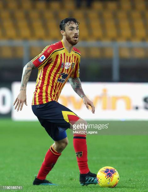 Andrea Tabanelli of Lecce during the Serie A match between US Lecce and Cagliari Calcio at Stadio Via del Mare on November 25 2019 in Lecce Italy