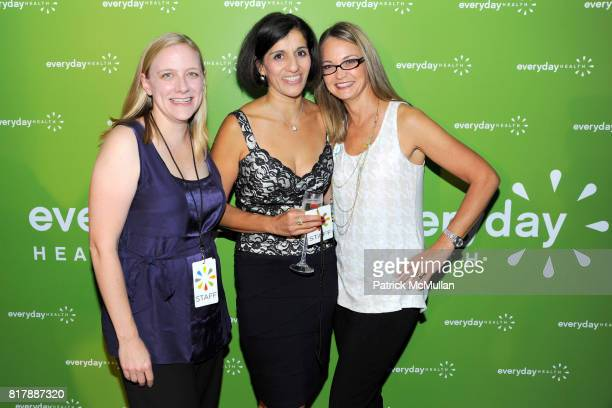 Andrea Tappert Dora Roman and Lori Flynn attend EVERYDAY HEALTH Anniversary Party at Gansevoort Park Avenue South on September 23 2010 in New York...