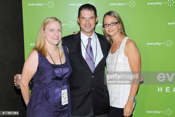 Andrea Tappert John Stern and Lori Flynn attend EVERYDAY HEALTH Anniversary Party at Gansevoort Park Avenue South on September 23 2010 in New York...