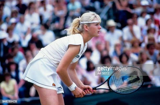 Andrea Temesvari en Juin 1983 à Wimbledon Grande Bretagne