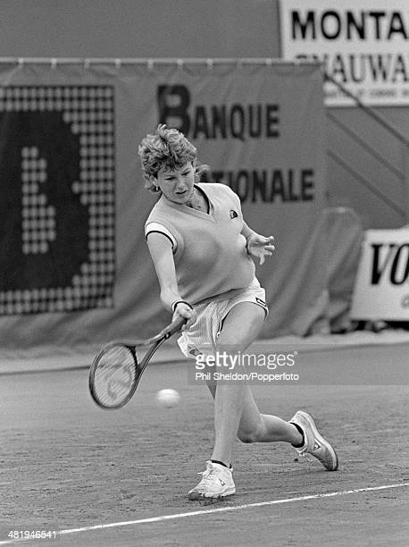 Andrea Temesvari of Hungary in action during the French Open Tennis Championships held at the Stade Roland Garros in Paris circa May 1980