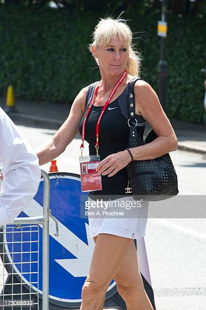 Andrea Temesvari sighted at Wimbledon Tennis on July 6 2013 in London England