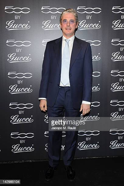 Andrea Tessitore attends 500 by Gucci Short Film Collection cocktail party on April 16 2012 in Milan Italy