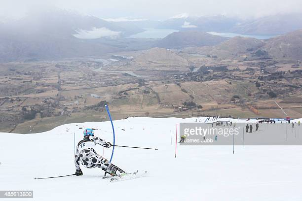 Andrea Testa of Italy competes in the Alpine Slalom FIS Australia New Zealand Cup during the Winter Games NZ at Coronet Peak on August 29 2015 in...