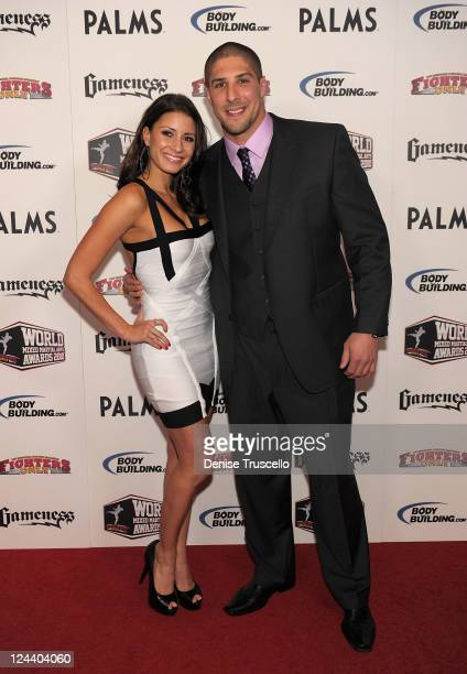 Andrea Thompson and Brendan Shaub arrive at the Fighters Only World Mixed Martial Arts Awards at the Pearl Theatre at the Palms Hotel and Casino on...