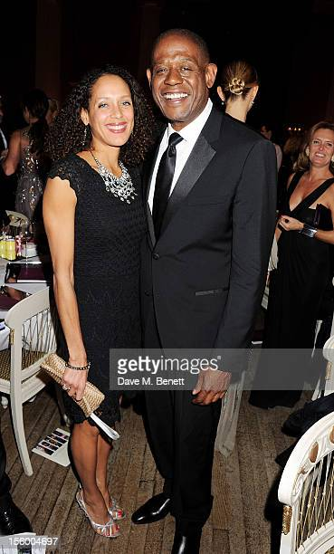 Andrea Thompson and Forest Whitaker attend the Place For Peace dinner cohosted by Ella Krasner and Forest Whitaker to support the Peace Earth...