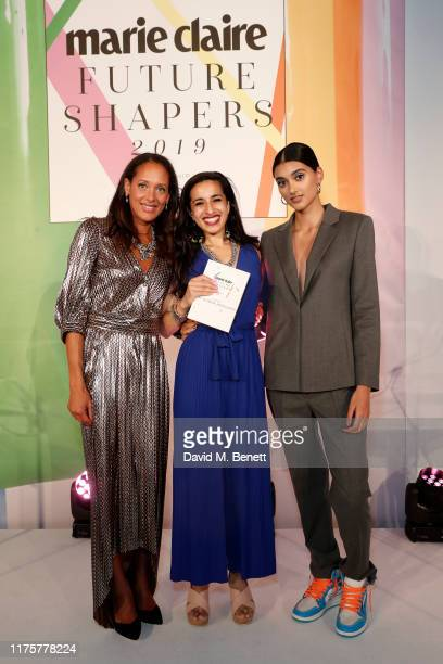 Andrea Thompson Dr Sonia Adesara and Neelam Gill attend the Marie Claire Future Shapers Awards in partnership with Neutrogena at One Marylebone on...