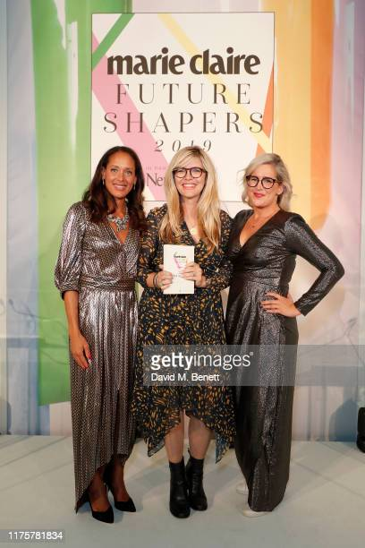 Andrea Thompson Emma Barnett and Anna Whitehouse attend the Marie Claire Future Shapers Awards in partnership with Neutrogena at One Marylebone on...