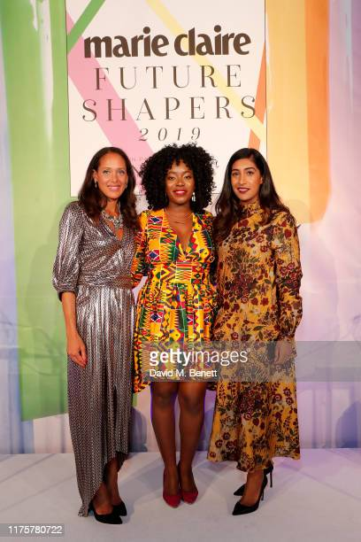 Andrea Thompson Sei Akiwowo and Tina Daheley attend the Marie Claire Future Shapers Awards in partnership with Neutrogena at One Marylebone on...