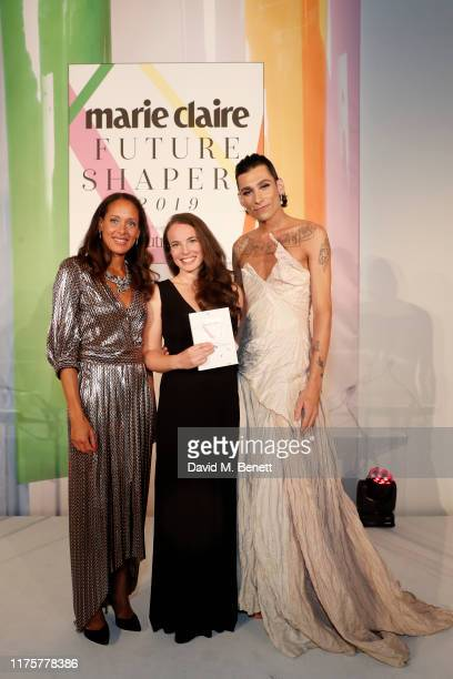 Andrea Thompson Tara Button and Kyle De'Volle attend the Marie Claire Future Shapers Awards in partnership with Neutrogena at One Marylebone on...