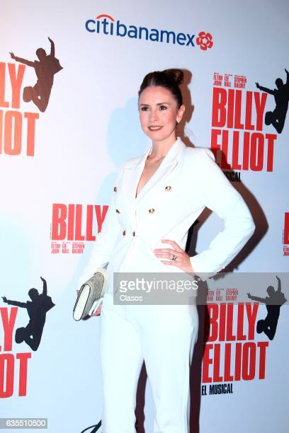 Andrea Torre poses for the camera during the opening night of Billy Elliot Music Show on February 15 2017 in Mexico City Mexico