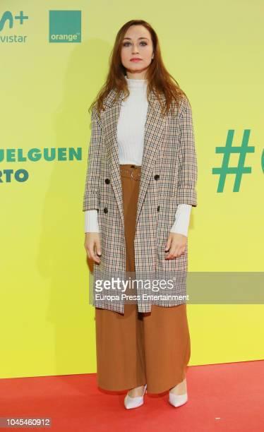Andrea Trepat attends 'Ola de Crimenes' premiere on October 3 2018 in Madrid Spain