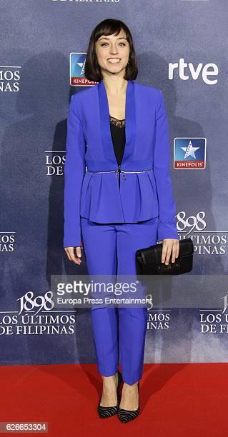 Andrea Trepat attends the '1898 Los Ultimos De Filipinas' premiere at Kinepolis cinema on November 29 2016 in Madrid Spain