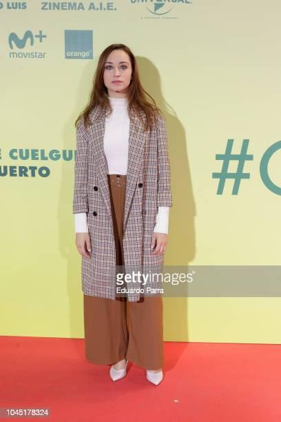 Andrea Trepat attends the 'Ola de crimenes' premiere at Capitol cinema on October 3 2018 in Madrid Spain