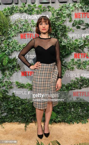 Andrea Trepat attends 'Tripe Frontier' Madrid at Callao Cinema on March 05 2019 in Madrid Spain