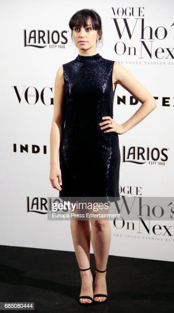 Andrea Trepat attends VI Vogue Who's On Next party at El Principito on May 18 2017 in Madrid Spain