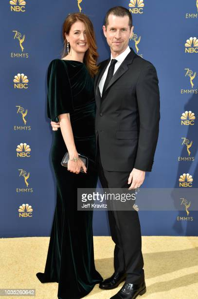 Andrea Troyer and D. B. Weiss attends the 70th Emmy Awards at Microsoft Theater on September 17, 2018 in Los Angeles, California.