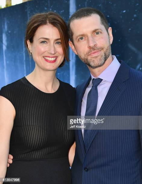 Andrea Troyer and executive producer D B Weiss at the Los Angeles Premiere for the seventh season of HBO's 'Game Of Thrones' at Walt Disney Concert...