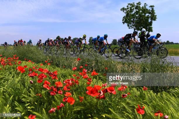 Andrea Vendrame of Italy and AG2R Citröen Team, Gianni Vermeersch of Belgium and Team Alpecin-Fenix, Simon Pellaud of Switzerland, Andrii Ponomar of...