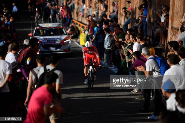 Andrea Vendrame of Italy and Team Androni Giocattoli Sidermec / Public / Fans / Landscape / during the 102nd Giro d'Italia 2019 Stage 1 a 8km...