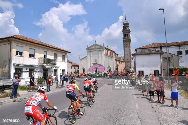Andrea Vendrame of Italy and Team Androni Giocattoli-Sidermec / Eugert Zhupa of Albania and Team Wilier Triestina-Selle Italia / Marco Marcato of...