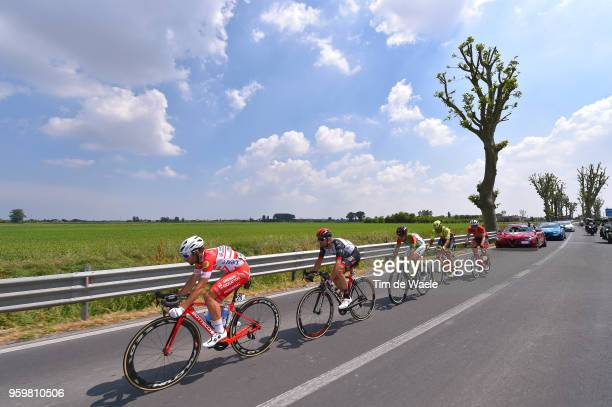 Andrea Vendrame of Italy and Team Androni Giocattoli-Sidermec / Marco Marcato of Italy and UAE Team Emirates / Alessandro Tonelli of Italy and Team...