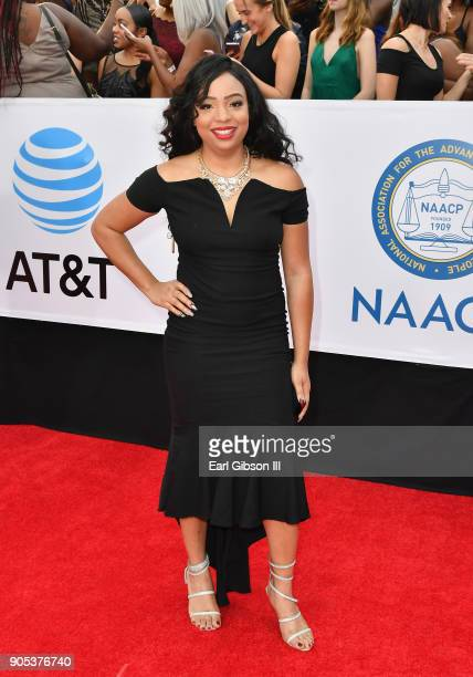 Andrea Ward at the 49th NAACP Image Awards on January 15 2018 in Pasadena California