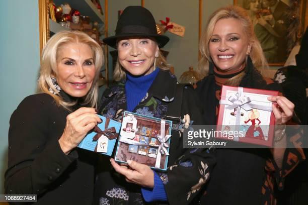 Andrea Warshaw Wernick Suzan Kremer and Leesa Rowland attend Maribel Lieberman Of MarieBelle Chocolates Celebrates Resident Magazine December 2018...