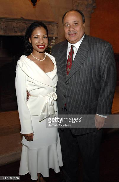 Andrea Waters and Martin Luther King III during The Realizing the Dream Martin Luther King Jr Tribute Reception at Riverside Church in New York City...
