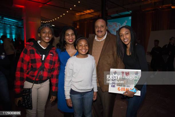 Andrea Waters King Yolanda Renee King Martin Luther King III and Jawanna Hardy attend End Gun Violence Together Rally at Union Market on February 11...