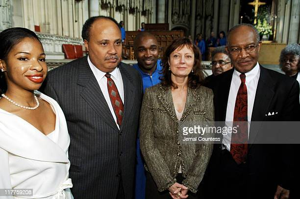 Andrea Waters Martin Luther King II Susan Sarandon and Dr James A Forbes