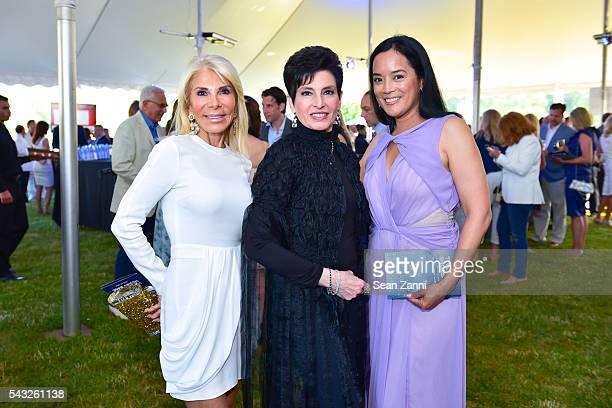 Andrea Wernick, Arlene Lazare and Cassandra Seidenfeld attend 20th Anniversary Hamptons Heart Ball - An Evening Under the Stars at The Hayground...