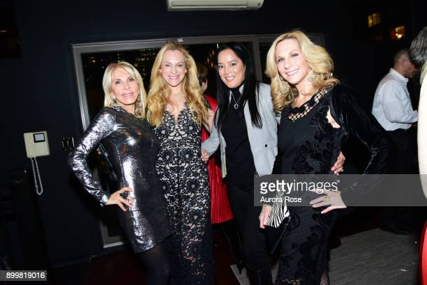 Andrea Wernick Consuelo Vanderbilt Costin Cassandra Seidenfeld and Randi Schatz attend Tracy Stern hosts holiday party at private townhouse in Hell's...