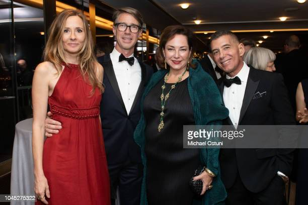 Andrea Wulf Thomas Woltz Kelly Williams and Philip Gorrivan attend the Olana Partnership's 2018 Frederic Church Award Gala at The Rainbow Room on...
