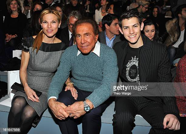 Andrea Wynn Steve Wynn and Nick Hissom attend Zang Toi during Fall 2013 MercedesBenz Fashion Week at The Stage at Lincoln Center on February 13 2013...