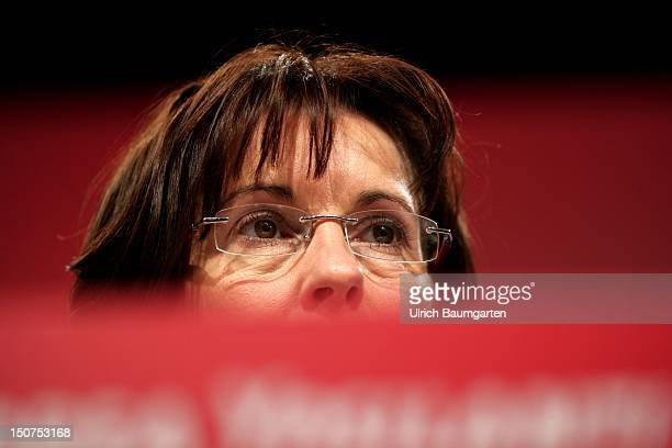 GERMANY ALSFELD Andrea YPSILANTI chairwoman of the Hessian SPD and chairwoman of the parliamentary group during the Regional party conference of the...