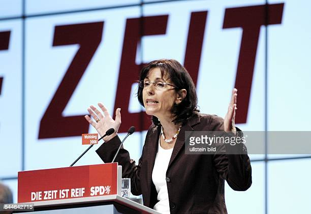 Andrea Ypsilanti politician SPD Germany chairperson of the parliamentary group of the SPD at the hessian parliament at the hessian SPD party...