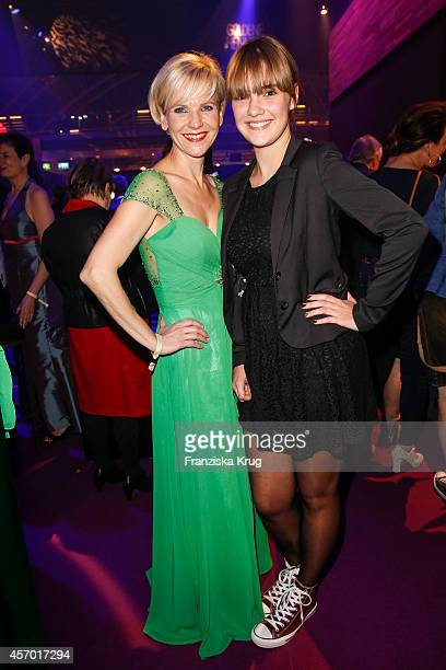 AndreaKathrin Loewig and guest attend Madeleine at Goldene Henne 2014 on October 10 2014 in Leipzig Germany