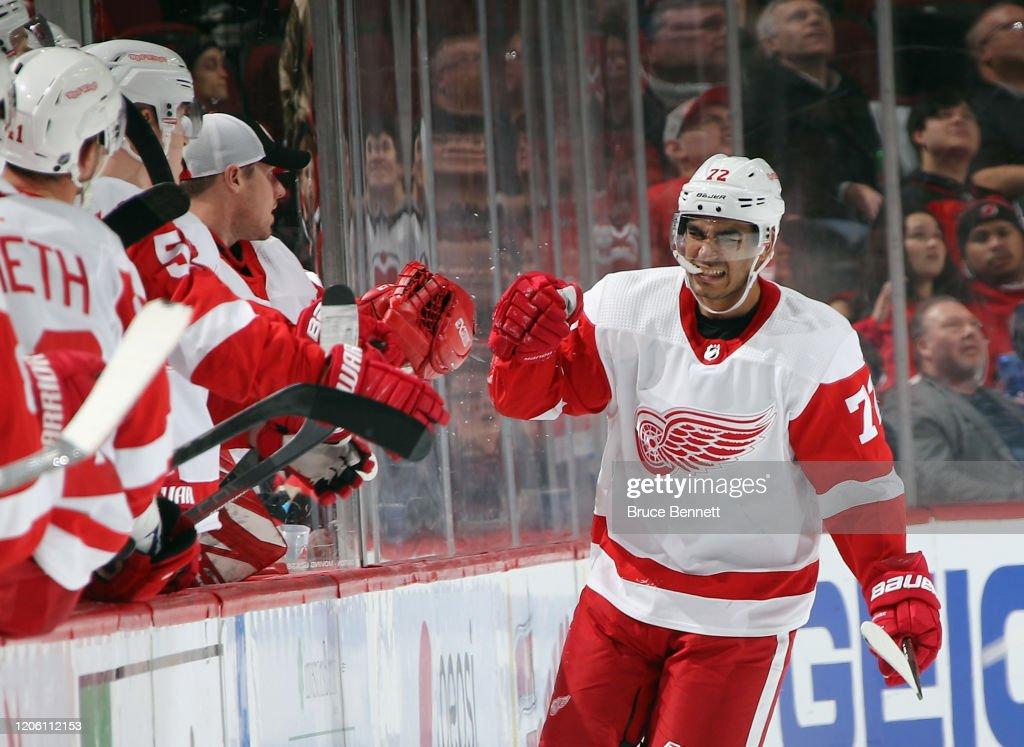 Detroit Red Wings v New Jersey Devils : Foto di attualità