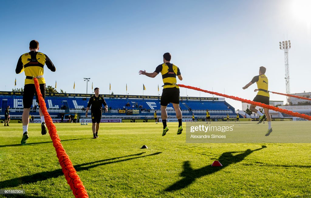 Andreas Beck, athletic coach of Borussia Dortmund, during a training session as part of the training camp at the Estadio Municipal de Marbella on January 05, 2018 in Marbella, Spain.