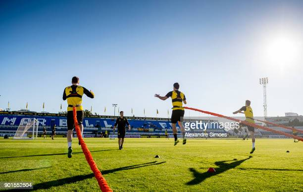 Andreas Beck athletic coach of Borussia Dortmund during a training session as part of the training camp at the Estadio Municipal de Marbella on...