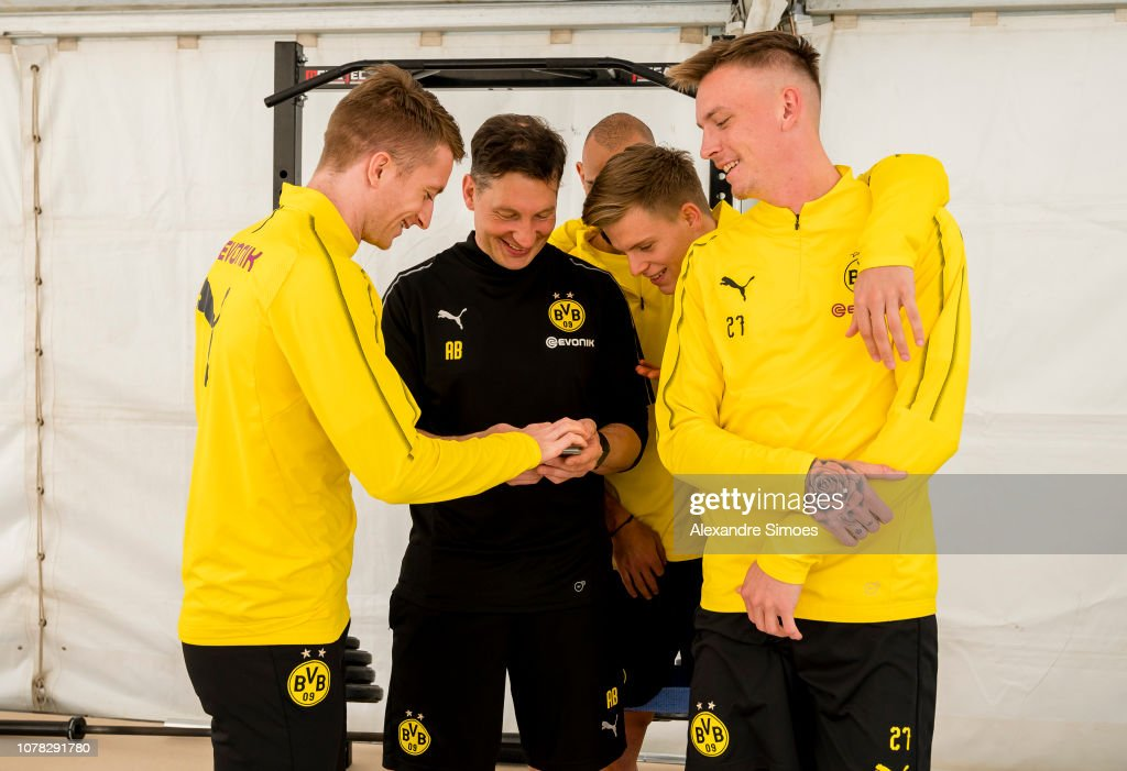 Andreas Beck Athletic Coach Of Borussia Dortmund Joke With Marco News Photo Getty Images