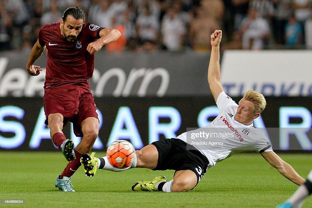 Besiktas vs Trabzonspor - Turkish Spor Toto Super League : News Photo