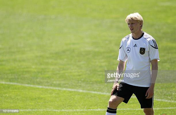 Andreas Beck of Germany looks on during training session at Sportzone Rungg on June 01 2010 in Appiano sulla Strada del Vino Italy