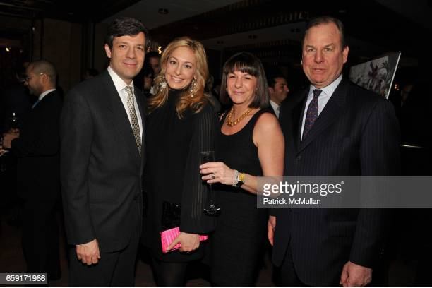 Andreas Beroutsos Abigail Hirschhorn Beroutsos Carol Ostrow and Michael Graff attend THE NEW YORK BOTANICAL GARDEN Orchid Dinner at Rainbow Room on...