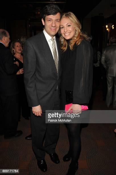 Andreas Beroutsos and Abigail Hirschhorn Beroutsos attend THE NEW YORK BOTANICAL GARDEN Orchid Dinner at Rainbow Room on February 24 2009 in New York