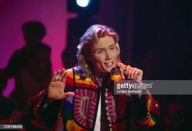 """Andreas Bieber, deutscher Schauspieler und Musicaldarsteller des Musicals """"Joseph and the Amazing Technicolor Dreamcoat"""", Deutschland 1997"""