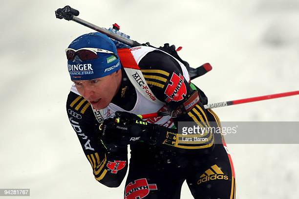 Andreas Birnbacher of Germany competes during the Men's 10 km Sprint in the IBU Biathlon World Cup on December 11 2009 in Hochfilzen Austria