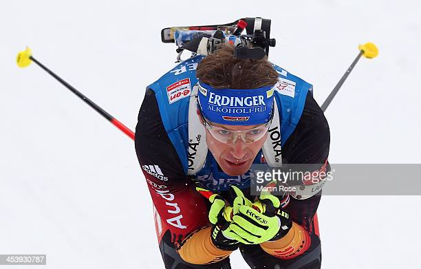 Andreas Birnbacher of Germany competes in the men's 10km sprint event during the IBU Biathlon World Cup on December 6 2013 in Hochfilzen Austria